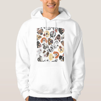 Illustrations-Muster-süße inländische Hunde Hoodie