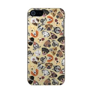 Illustrations-Muster-süße inländische Hunde Incipio Feather® Shine iPhone 5 Hülle
