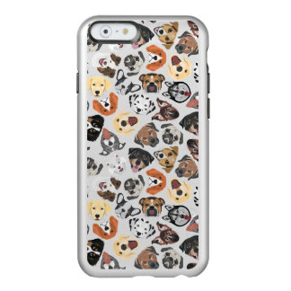 Illustrations-Muster-süße inländische Hunde Incipio Feather® Shine iPhone 6 Hülle