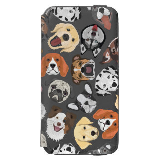 Illustrations-Muster-süße inländische Hunde Incipio Watson™ iPhone 6 Geldbörsen Hülle