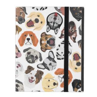 Illustrations-Muster-süße inländische Hunde iPad Etui