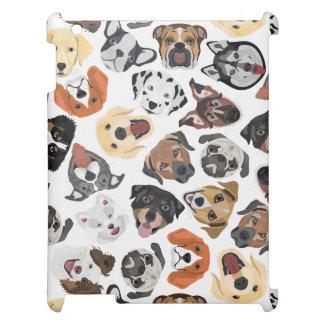Illustrations-Muster-süße inländische Hunde iPad Hülle