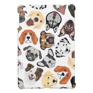 Illustrations-Muster-süße inländische Hunde iPad Mini Hülle