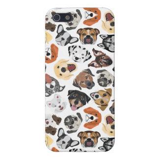 Illustrations-Muster-süße inländische Hunde iPhone 5 Hülle