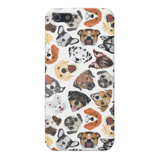 Illustrations-Muster-süße inländische Hunde iPhone 5 Schutzhüllen