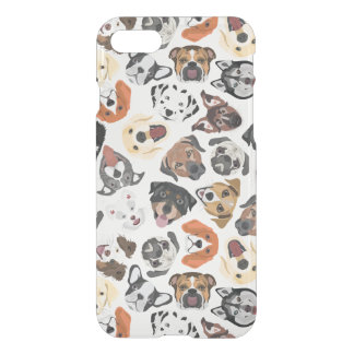 Illustrations-Muster-süße inländische Hunde iPhone 8/7 Hülle