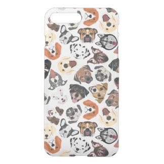 Illustrations-Muster-süße inländische Hunde iPhone 8 Plus/7 Plus Hülle