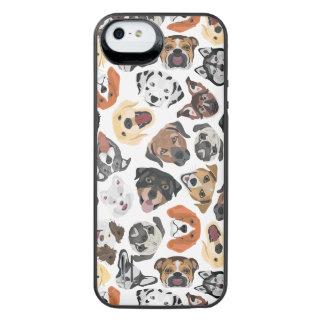 Illustrations-Muster-süße inländische Hunde iPhone SE/5/5s Batterie Hülle