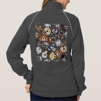 Illustrations-Muster-süße inländische Hunde Jacke
