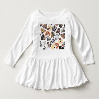Illustrations-Muster-süße inländische Hunde Kleid