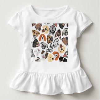 Illustrations-Muster-süße inländische Hunde Kleinkind T-shirt