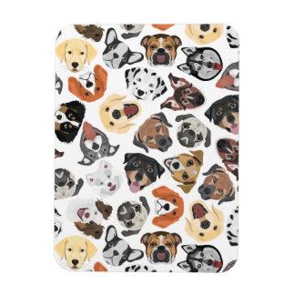 Illustrations-Muster-süße inländische Hunde Magnet