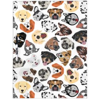 Illustrations-Muster-süße inländische Hunde Memoboard
