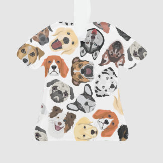 Illustrations-Muster-süße inländische Hunde Ornament