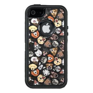 Illustrations-Muster-süße inländische Hunde OtterBox iPhone 5/5s/SE Hülle