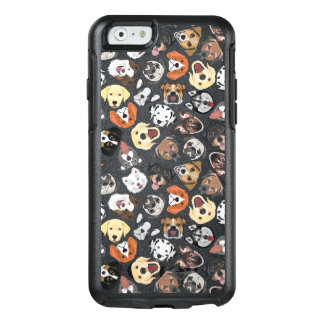Illustrations-Muster-süße inländische Hunde OtterBox iPhone 6/6s Hülle