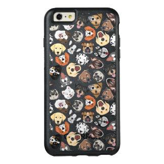 Illustrations-Muster-süße inländische Hunde OtterBox iPhone 6/6s Plus Hülle