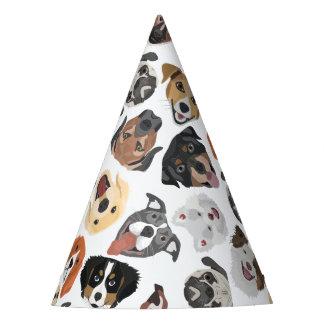 Illustrations-Muster-süße inländische Hunde Partyhütchen