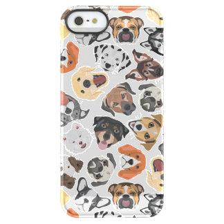 Illustrations-Muster-süße inländische Hunde Permafrost® iPhone SE/5/5s Hülle