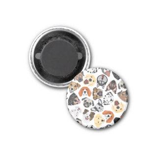 Illustrations-Muster-süße inländische Hunde Runder Magnet 2,5 Cm
