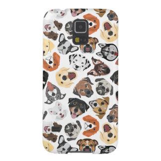 Illustrations-Muster-süße inländische Hunde Samsung S5 Cover