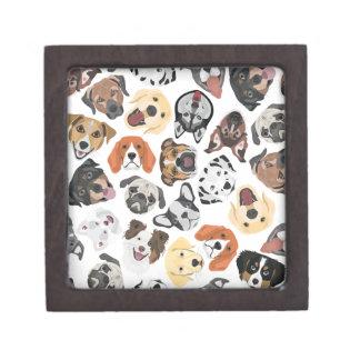 Illustrations-Muster-süße inländische Hunde Schachtel