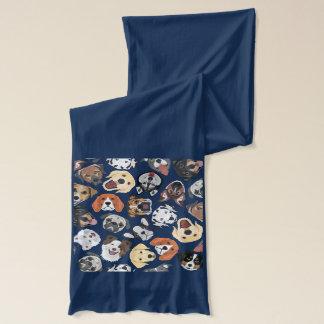 Illustrations-Muster-süße inländische Hunde Schal