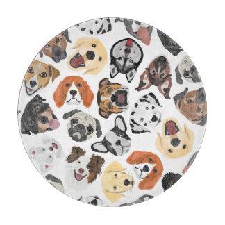 Illustrations-Muster-süße inländische Hunde Schneidebrett
