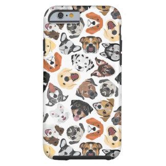 Illustrations-Muster-süße inländische Hunde Tough iPhone 6 Hülle