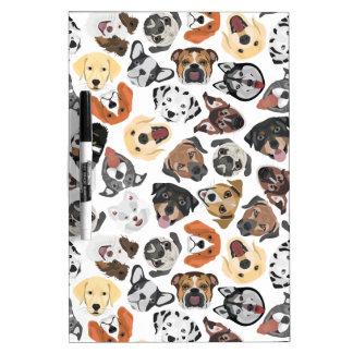 Illustrations-Muster-süße inländische Hunde Trockenlöschtafel