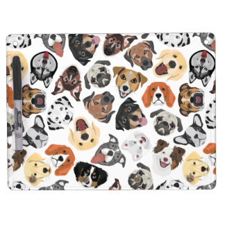 Illustrations-Muster-süße inländische Hunde Trockenlöschtafel Mit Schlüsselanhängern