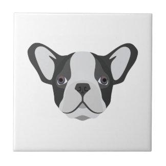 Illustrations-niedliche französische Bulldogge Fliese
