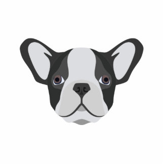 Illustrations-niedliche französische Bulldogge Fotoskulptur Magnet