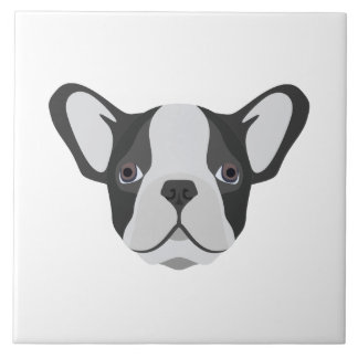 Illustrations-niedliche französische Bulldogge Keramikfliese