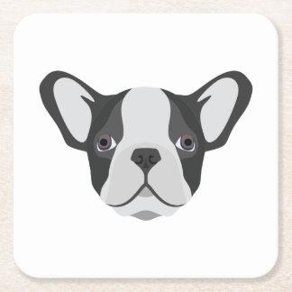 Illustrations-niedliche französische Bulldogge Rechteckiger Pappuntersetzer