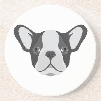 Illustrations-niedliche französische Bulldogge Sandstein Untersetzer
