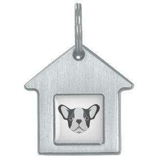 Illustrations-niedliche französische Bulldogge Tiermarke