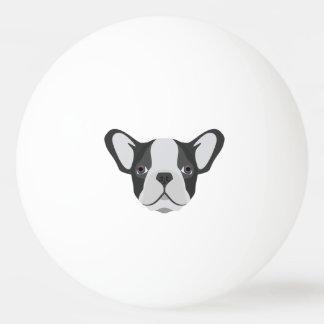 Illustrations-niedliche französische Bulldogge Tischtennis Ball