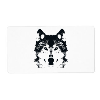 Illustrations-schwarzer Wolf