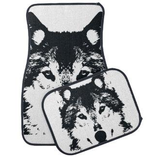Illustrations-schwarzer Wolf Autofußmatte