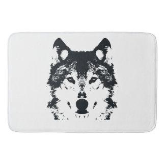 Illustrations-schwarzer Wolf Badematte