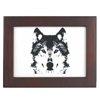 Illustrations-schwarzer Wolf Erinnerungsdose