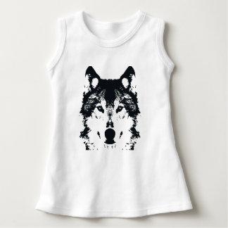 Illustrations-schwarzer Wolf Kleid