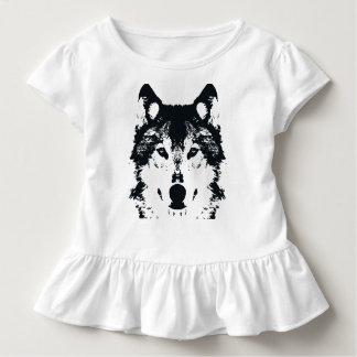 Illustrations-schwarzer Wolf Kleinkind T-shirt