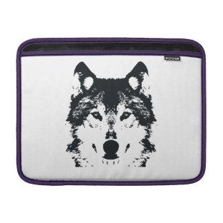 Illustrations-schwarzer Wolf MacBook Air Sleeve