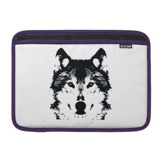 Illustrations-schwarzer Wolf MacBook Sleeve