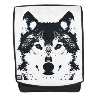Illustrations-schwarzer Wolf Rucksack