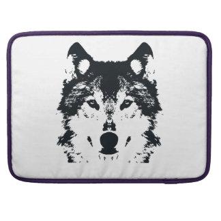 Illustrations-schwarzer Wolf Sleeve Für MacBook Pro