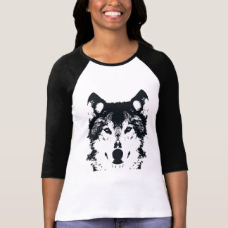 Illustrations-schwarzer Wolf T-Shirt
