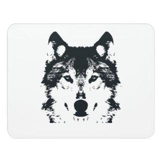 Illustrations-schwarzer Wolf Türschild